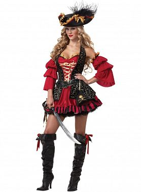 костюм пирата для женщин