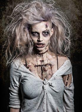 зомби девушка