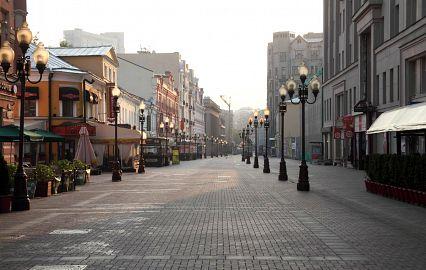 улицы с фонарями