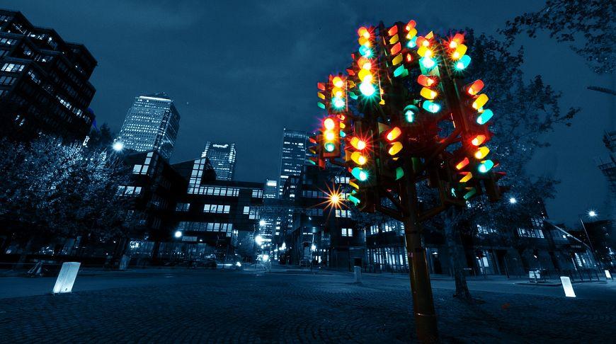 Англия, Лондон, «светофорное дерево»