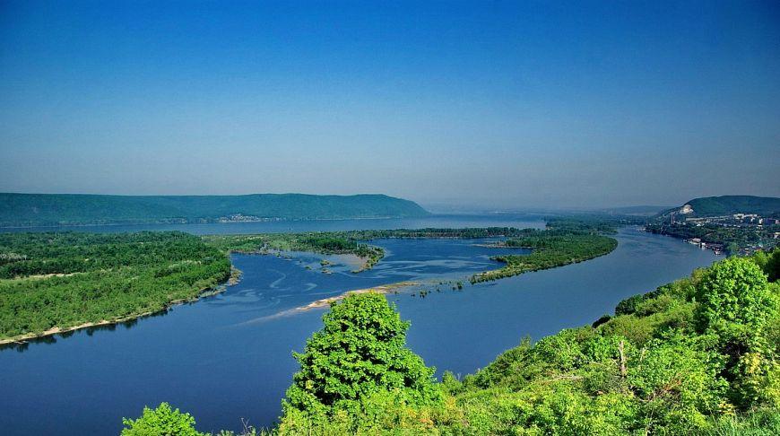 Волга в зелени