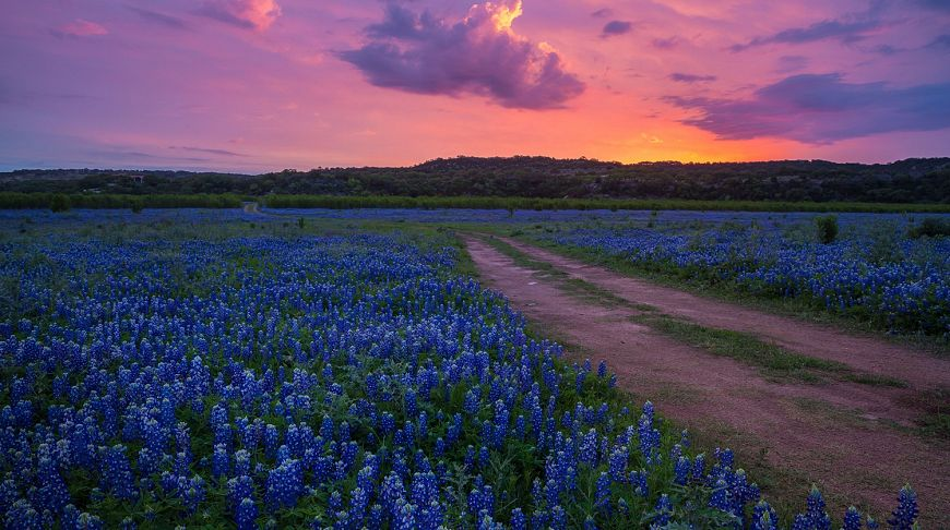 закат Texas Hill Country