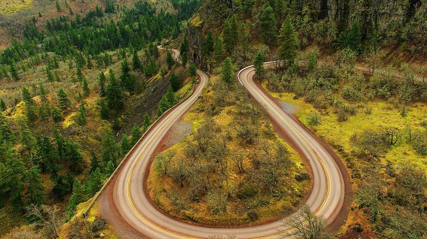 историческое шоссе в Орегоне
