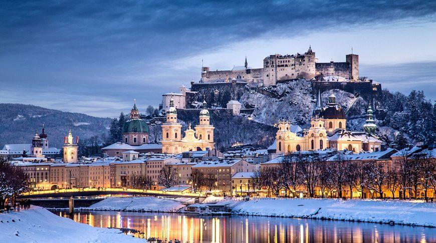 Зальцбург в снегу