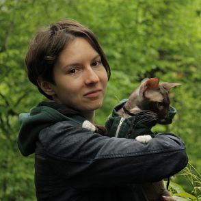 Рябко с котом из Гринпис