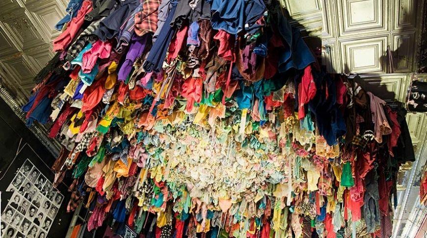 старая одежда для переработки