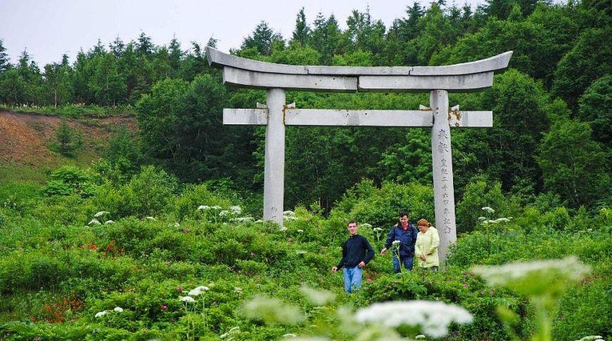 японские ворота на Сахалине