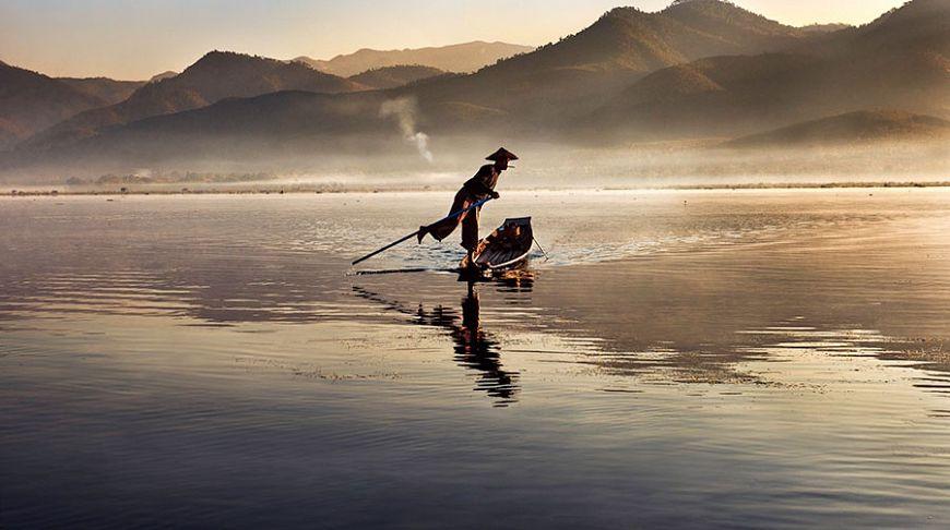 Рыбак на рассвете, Мьянма