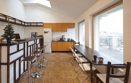 кухня FD Hostel