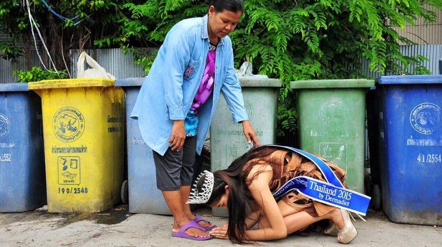 паттайская сборщица пластика и жести
