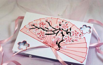 Японская открытка своим руками