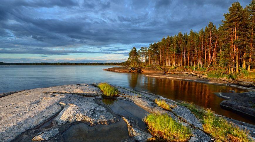 чудесная рыбалка на берегу красивого озера